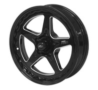 STREET PRO II GM 5x120.65 - 17x4.5  / 1.75' Back Space Black Wheel