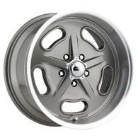 "AMERICAN LEGEND Racer Grey wheel - 17x7 with 4-1/4"" Backspace GM"