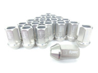 D1 SPEC Aluminium Wheel nut set (20pcs) - 36mm Long - SILVER M12 x 1.25