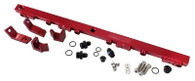 AEROFLOW Billet EFI Fuel Rails - Suit BA-BF 6cyl - RED