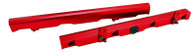 AEROFLOW Billet EFI Fuel Rails - Suit GM LS2/3 - RED