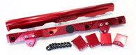 AEROFLOW Billet EFI Fuel Rails - Suit GM LS7 - RED