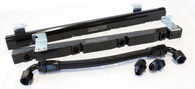 AEROFLOW Billet EFI Fuel Rails - Suit Holden 5L V8 - BLACK