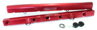 AEROFLOW Billet EFI Fuel Rails - Suit Ford 5L Windsor - RED