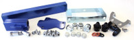 AEROFLOW Billet EFI Fuel Rails - Suit Mazda 13B / RX7 S6, 7 & 8 - BLUE
