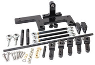 AEROFLOW 4150 Series Dual Carburettor Blower Linkage Kit - BLACK