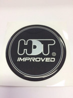 HDT VF Improved Bubble Badge – BLACK/SILVER 80mm