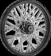 """ATTITUDE INC 40 Spoke Wire Wheel - Suits Harley - 16"""" x 3"""" - Black Rim/Hub"""