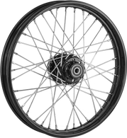 "ATTITUDE INC 40 Spoke Wire Wheel - Suits Harley - 21"" x 2.15"" - Black Rim/Hub"