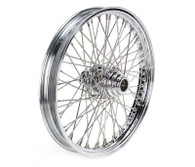 "ATTITUDE INC 60 Spoke Wire Wheel - Suits Harley FXST 2000-2005 - 21"" x 2.15"" - Chrome DUAL DISC"