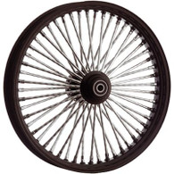 "ATTITUDE INC Black & Chrome Max Spoke Wheel - Suits Harley - 16"" x 3.5"" REAR WITH ABS - 1"" Axle"