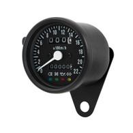 TLG Cafe Racer Mini Speedometer - Black