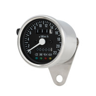 TLG Cafe Racer Mini Speedometer - Chrome