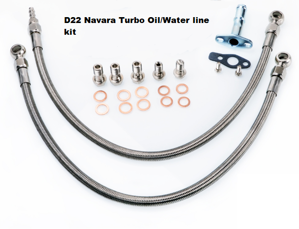 TLG Turbo Oil/Water Feed Line Kit - Nissan Navara D22 - YD25DDT/YD25K2/NP300