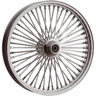 "ATTITUDE INC Chrome Max Spoke Wheel - Suits Harley - 16"" x 3.5"" REAR WITH ABS - 1"" Axle"