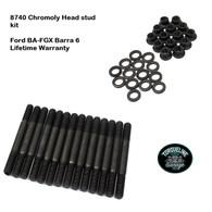 TLG Ford BA-FGX 6cyl Barra Head Stud kit - 8740 Chromoly steel