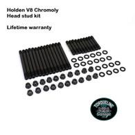 "TLG Holden 253-304-308ci V8 1/2"" Head Stud kit - 8740 Chromoly steel"