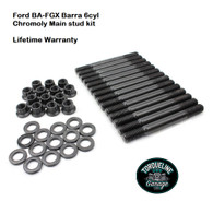 TLG Ford BA-FGX 6cyl Barra Main Stud kit - 8740 Chromoly steel