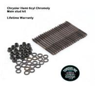 TLG Chrysler Hemi 215-245-265ci 6cyl Main Stud kit - 8740 Chromoly steel