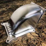 SHAUNS CUSTOM ALLOY Billet Throttle Body Elbow - 4150 to 105mm TB - RAW