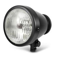 """TLG 4.5"""" Vintage Style Headlight - MATTE BLACK"""