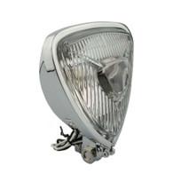 TLG Triangle Motorcycle Headlight suit Chopper/Bobber/Harley ect - CHROME