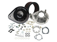 S&S Cycle Teardrop Air Cleaner Kit Gloss Black XL'91up w/CV Carb & XL'07 up Injected
