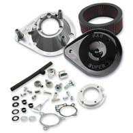 S&S Cycle Teardrop Air Cleaner Kit Black TBW Models '08up (inc Softail '16up)