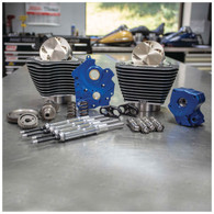 S&S Power Package for 107ci-124ci M8'17up Oil Cooled w/Black Highlighted Fins & Chrome Pushrod Tubes - Gear Driven Cam