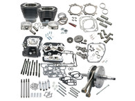 "S&S 124"" Hot Set Up Kit Wrinkle Black w/S&S Cylinder Heads for all Balanced Big Twins 07up"