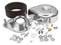 S&S Teardrop Air Cleaner Kit Chrome for E/G Series Carburettor Big Twin'84-91 XL'86-90