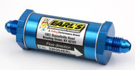 EARLS Anodized Blue Oil Filter - AN4 - 85 Micron