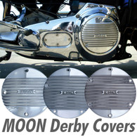 MOON Derby Cover - 5 Hole 1999+ Big Twin