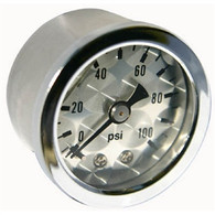 MOON Engine-Turned Oil/Fuel Pressure Gauge 0-100 lbs