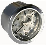 MOON Engine-Turned Oil/Fuel Pressure Gauge 0-60 lbs