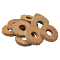 TC BROS. Leather Cushion Washers with 3/8 inch Hole - 10 pack