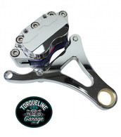TLG Springer Front End Brake Caliper Kit - Left Side Chrome