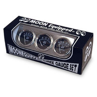 MOON Equipped 3 Gauge Set - Oil Pressure/Volt/Water temp