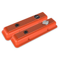 HOLLEY SBC Muscle Series Orange Finish Aluminium Valve Covers