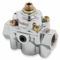 HOLLEY Chrome Die Cast 6 PSI Carburetted Fuel Pressure Regulator