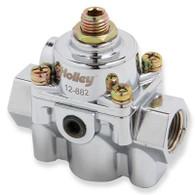 HOLLEY Chrome Die Cast 60 PSI EFI Fuel Pressure Regulator