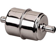 """HOLLEY Chrome Fuel Filter - 3/8"""" Outlets"""