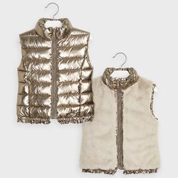 Mayoral    Reversible Puffer Vest - Old Gold