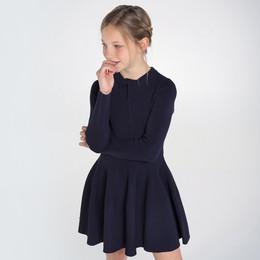 Mayoral    Knit Twist Dress - Navy