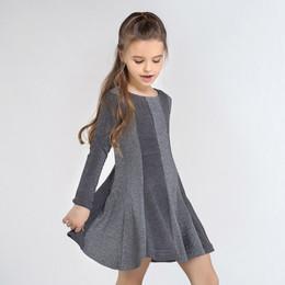 Mayoral    Vertical Stripe Dress - Gray