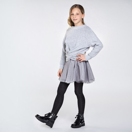 Mayoral   3-N-1 Combined Knit Dress - Steel
