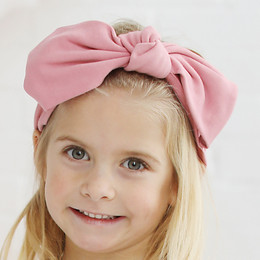 Lemon Loves Lime   Bow Headband - Mauve Glow