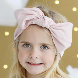 Lemon Loves Lime   Bow Headband - Lotus Pink