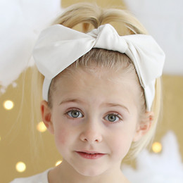 Lemon Loves Lime   Bow Headband - Eggnog