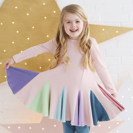 Lemon Loves Lime   Pinwheel Dress - Lotus Pink